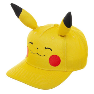 Pikachu Bigface Pre-Curved Bill snapback - Sweets and Geeks