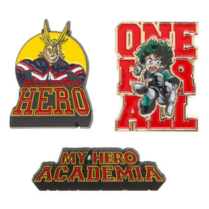 My Hero Academia Lapel Pin Set - Sweets and Geeks
