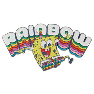 "Spongebob Rainbow 3"" Large Lapel Pin - Sweets and Geeks"