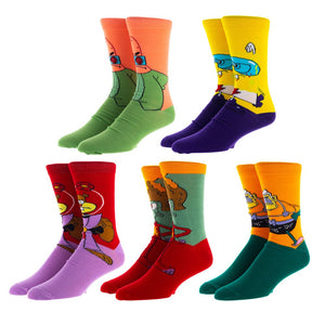 SpongeBob Heroes 5 Pair Crew Socks - Sweets and Geeks