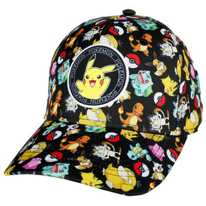 Pokemon Youth AOP Toss Hat with Pikachu Patch - Sweets and Geeks