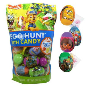 Nickelodeon Eggs Filled With Candy 16 Count - Sweets and Geeks