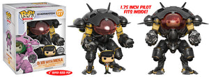 Funko Pop Games: Overwatch - D.Va with Meka (Carbon Fiber) Blizzard Exclusive #177 - Sweets and Geeks
