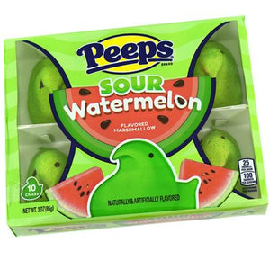 Peeps Sour Watermelon 10 Count - Sweets and Geeks