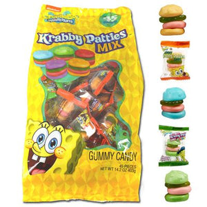 SpongeBob Krabby Patty Assorted 45 Count - Sweets and Geeks