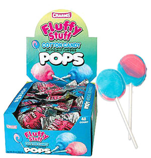 Charms Cotton Candy Lollipops - Sweets and Geeks