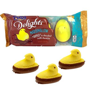 Peeps Delights Yellow Chocolate Dipped 3 Pack - Sweets and Geeks