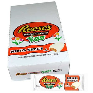 Reese's White Chocolate Peanut Butter Eggs King Size 2.4 oz - Sweets and Geeks
