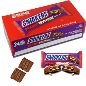 Snickers Peanut Brownie - Sweets and Geeks