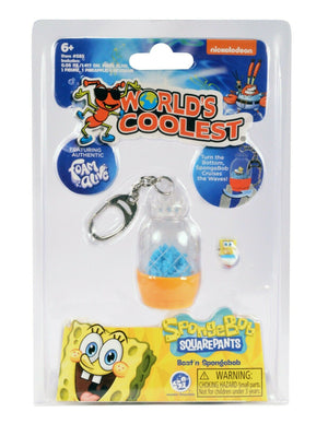World's Coolest SpongeBob Squarepants Sand Surfing Boat Keychain - Sweets and Geeks