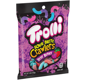 TROLLI SOUR BRITE CRAWLERS VERY BERRY PEG BAG - Sweets and Geeks