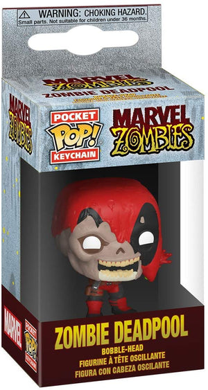 Funko Pop Keychain: Marvel Zombies - Zombie Deadpool (Item #49131) - Sweets and Geeks