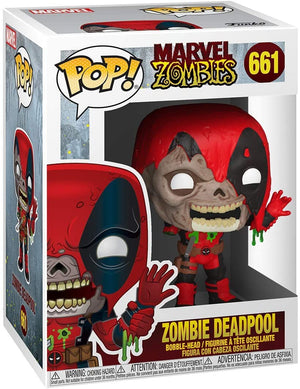 Funko Pop Marvel: Marvel Zombies - Zombie Deadpool #661 (Item #49126) - Sweets and Geeks