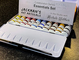 Michele Webber Professional Handmade Watercolour Essentials Set of 10 Colours Watercolour - Jackman's Art Materials