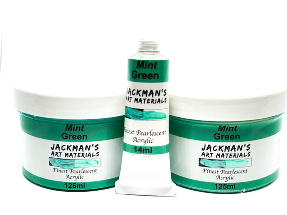 Mint Green Pearlescent Artist Acrylic Acrylic - Jackman's Art Materials