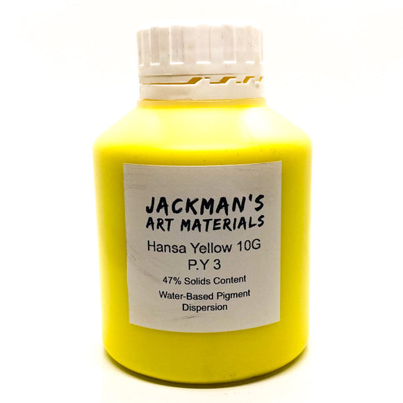 Hansa Yellow 10G P.Y 3 Water-based pigment dispersion Dispersions - Jackman's Art Materials