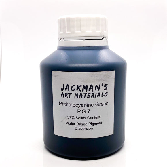 Phthalocyanine Green P.G 7 Water-Based Pigment Dispersion Dispersions - Jackman's Art Materials