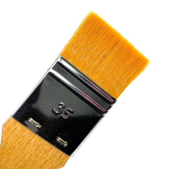 Extra Fine Golden Synthetic Flat Wash Brush Brushes - Jackman's Art Materials