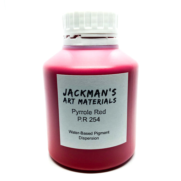 Pyrrole Red P.R 254 Water-based pigment dispersion Dispersions - Jackman's Art Materials