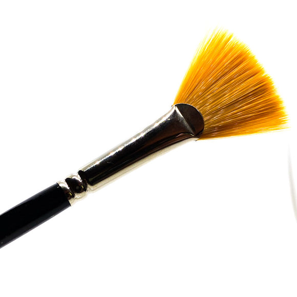 Extra Fine Golden Synthetic (Gold Sable) Fan Professional Watercolour & Oil Painting Brush Brushes - Jackman's Art Materials