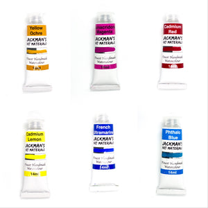 Primary Colours Warm & Cool Starter Pack set of 6  - Jackman's Art Materials