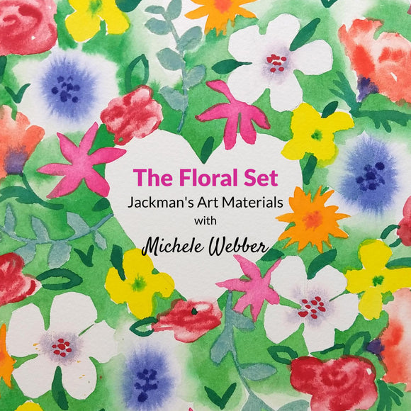 Michele Webber Professional Handmade Watercolour Floral Set of 10 Colours Watercolour - Jackman's Art Materials
