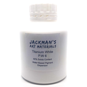 Titanium White P.W 6 Water-based pigment dispersion Dispersions - Jackman's Art Materials