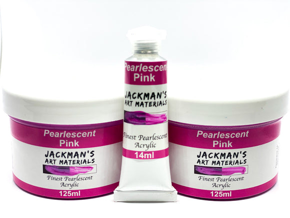 Pearlescent Pink Pearlescent Artist Acrylic Acrylic - Jackman's Art Materials