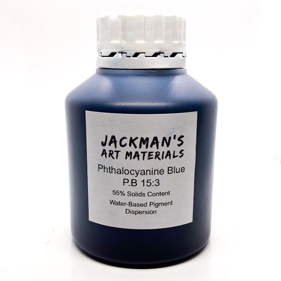 Phthalocyanine Blue P.B 15:3 Water-based pigment dispersion Dispersions - Jackman's Art Materials