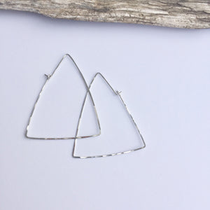 Sterling Silver Triangle Threader Earrings