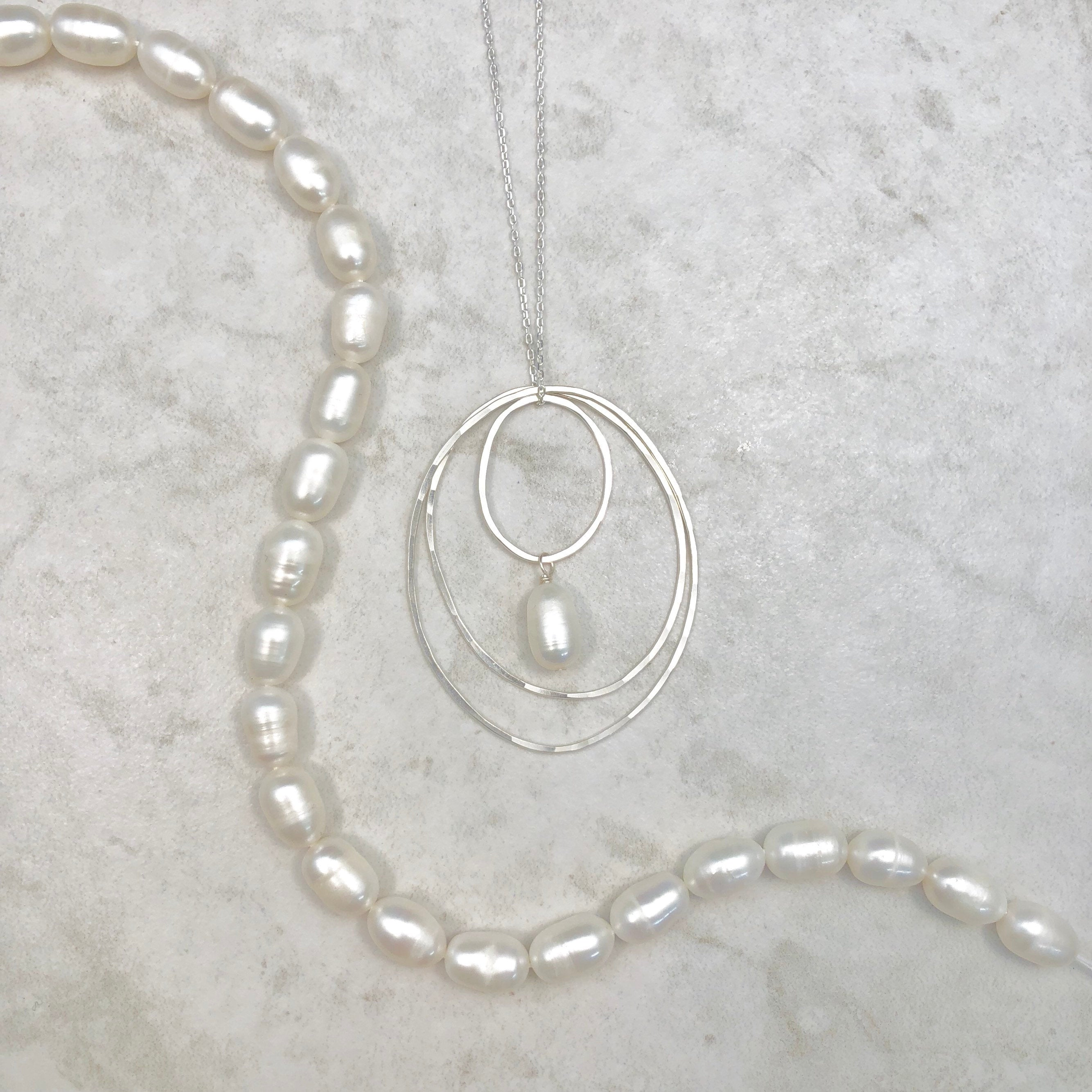 Silver Inside Counts Pearl Necklace