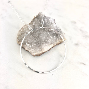 Large Floating Circle Necklace