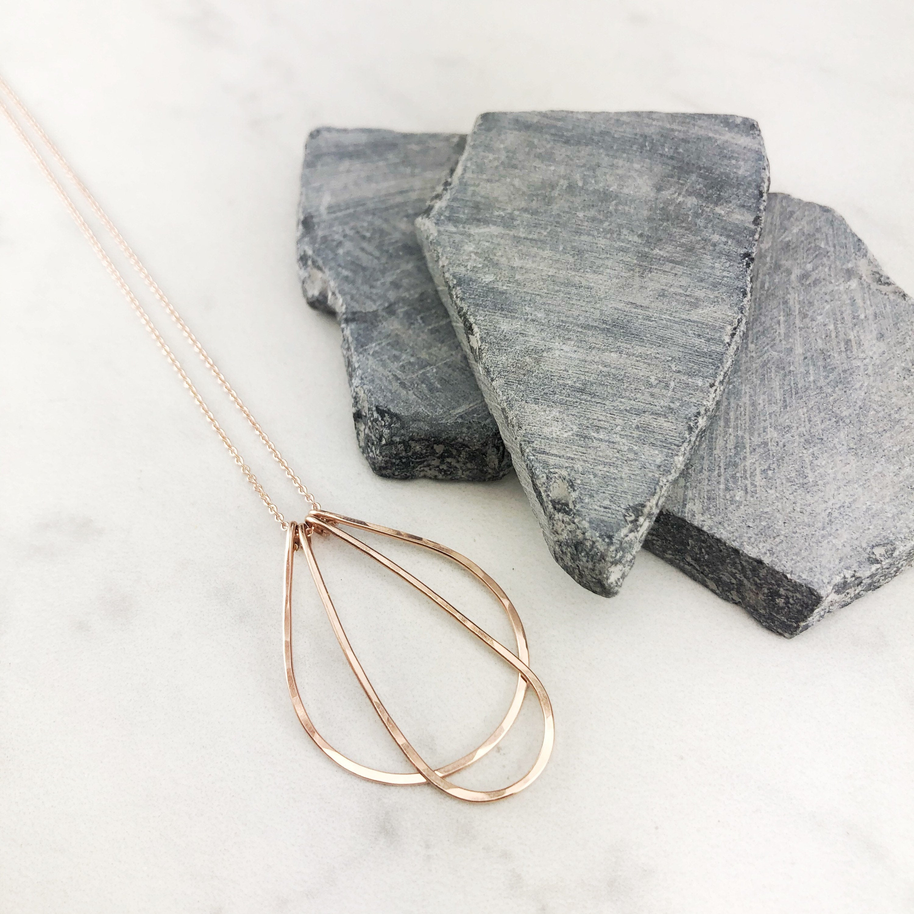 Rose Gold Arches Necklace