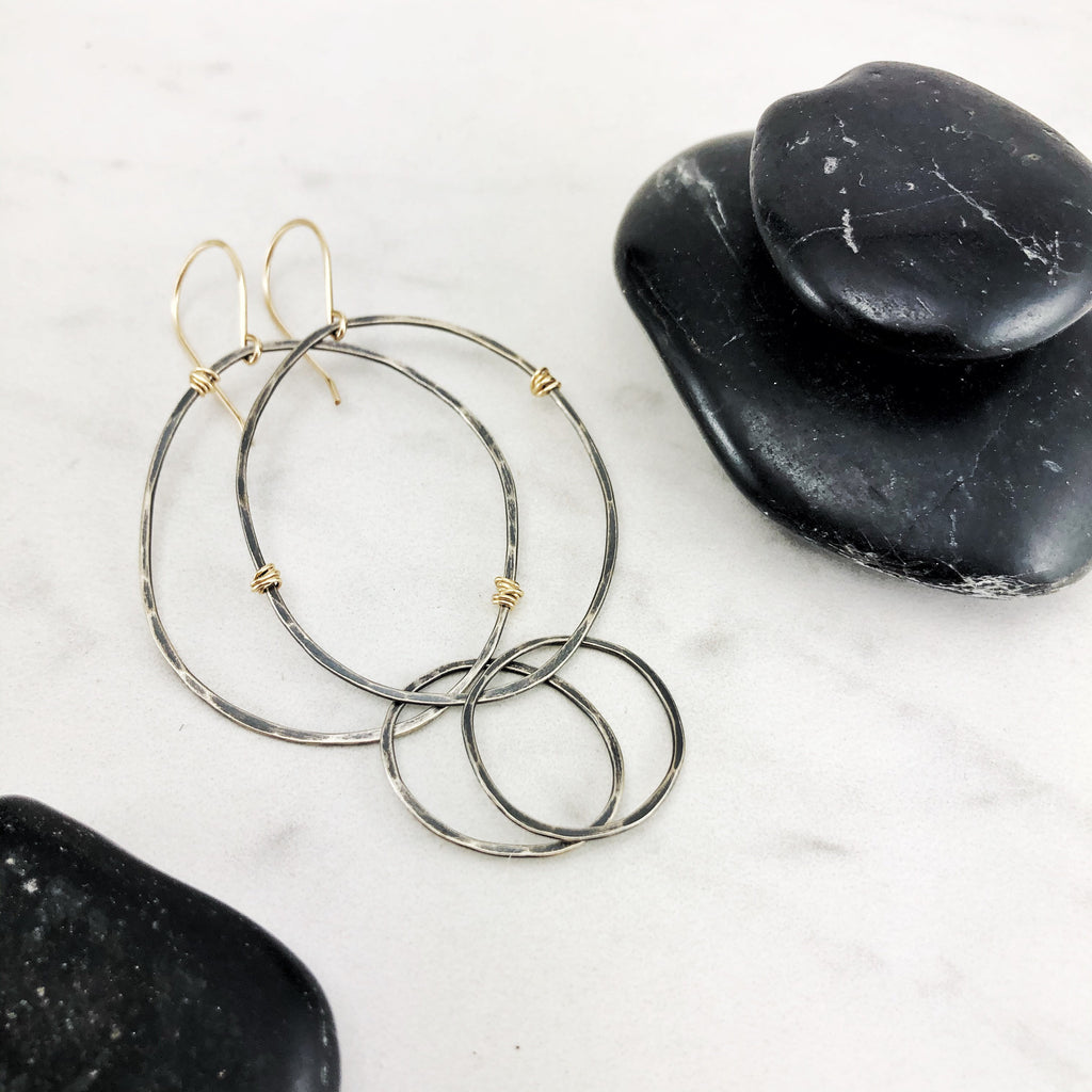 Silver & Gold Infinity Earring