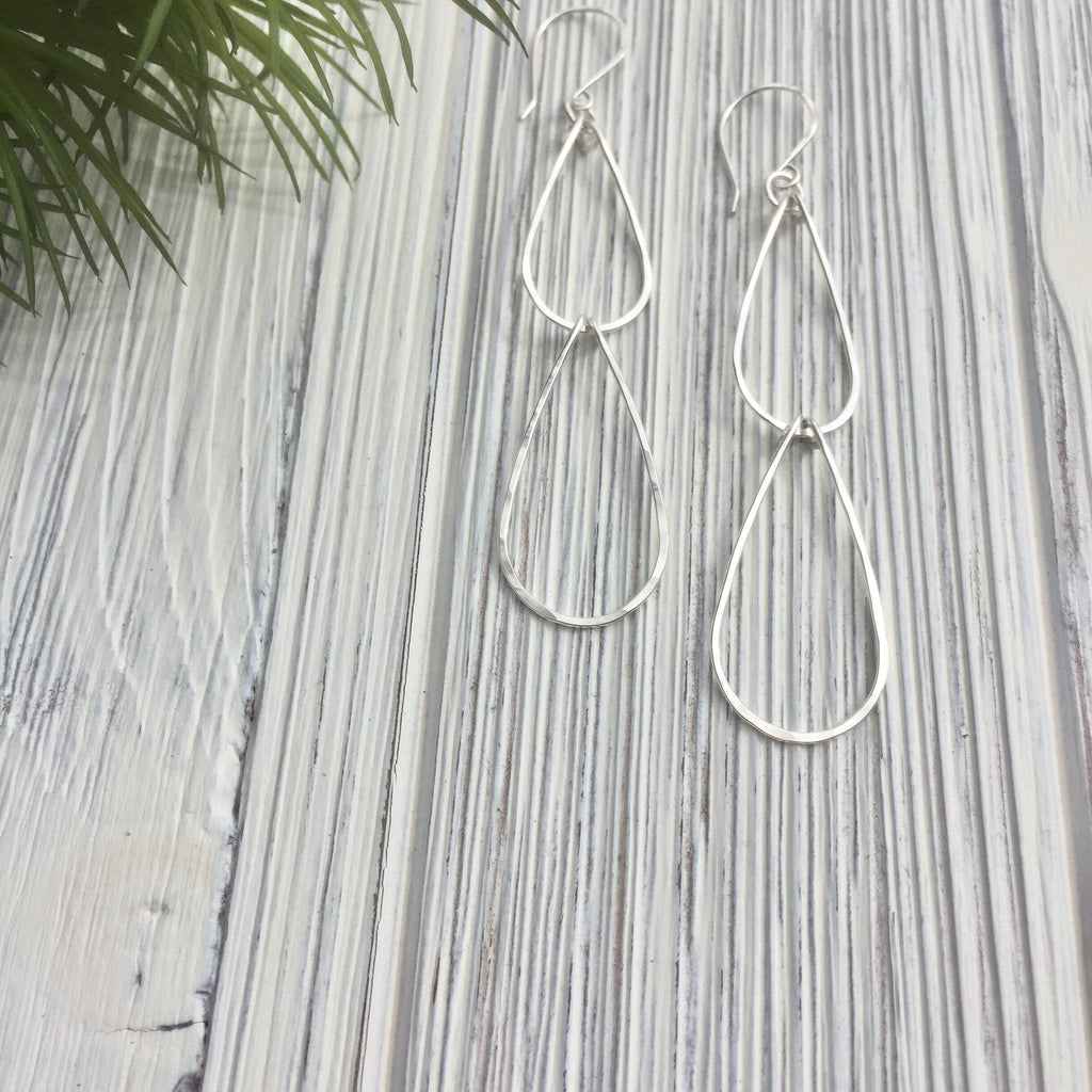Sterling Silver Waterfall Teardrop Earrings