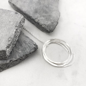 Silver Four Moon Necklace