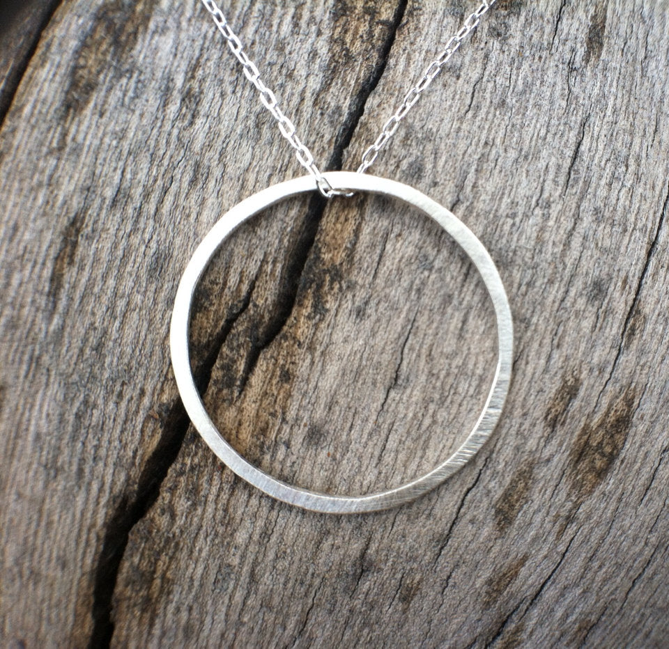 Small Silver Karma Necklace