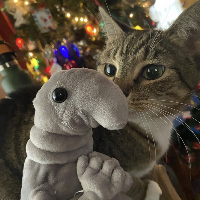 Wosh Plush with a cat
