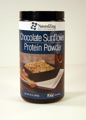 Chocolate Sunflower Protein Powder 16 oz - Natural Zing