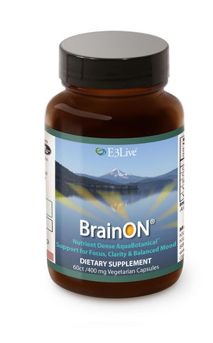 E3 BrainOn (Blue-Green Algae) 400 mg, 60 vcaps - Natural Zing