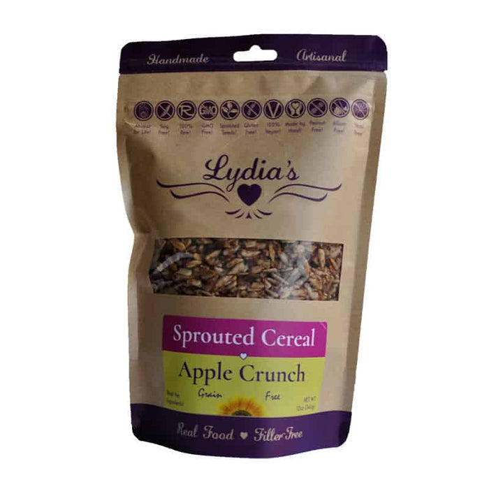 Lydia's Apple Crunch Sprouted Cereal 12 oz, Pack of 6