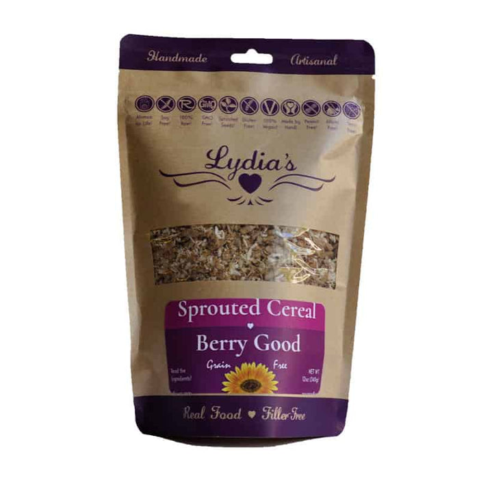 Lydia's Berry Good Sprouted Cereal 12 oz, Pack of 6