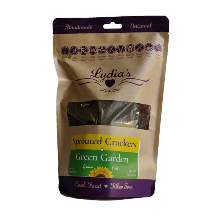 Lydia's Green Garden Sprouted Crackers 5 oz, Pack of 6