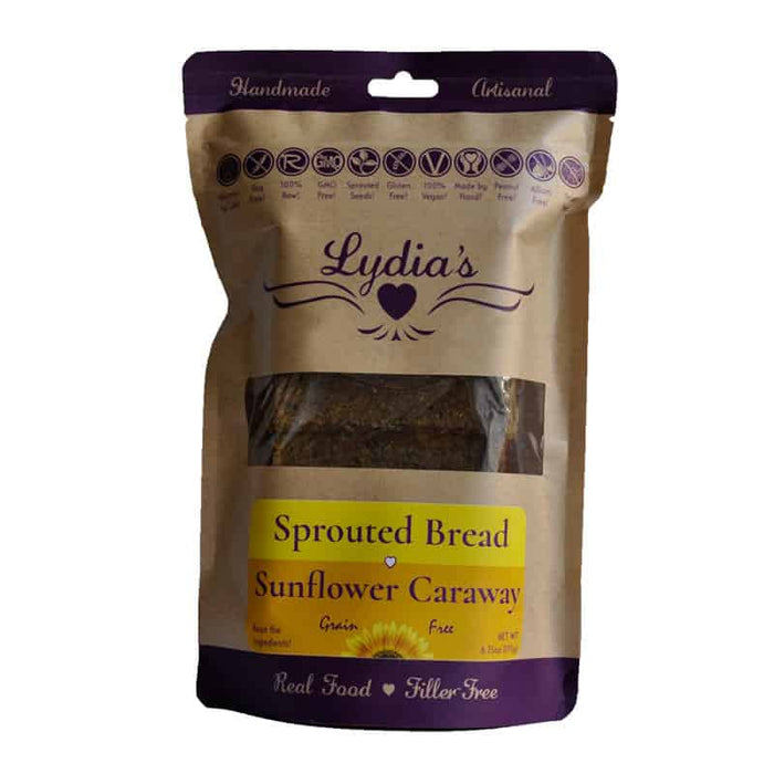Lydia's Sunflower Caraway Sprouted Bread 6.75 oz