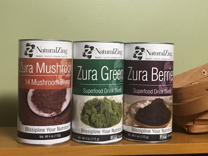 Zura Superfood Bundle (Greens, Berry, & Mushroom)