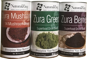 Zura Superfood Bundle (Greens, Berry, & Mushroom) - Natural Zing