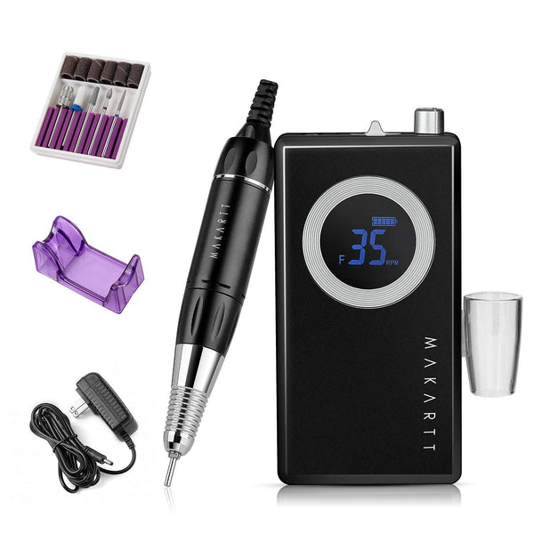Makartt Rechargeable Nail Drill Machine, Black Stephanee 35000RMP Professional Nail Drill Kit Electric Nail File Manicure Drill || Shop & Buy