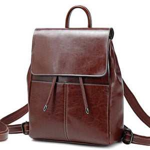 Luxury High Quality Genuine Leather Backpack Women New Travel Knapsack Female Shoulder Bag