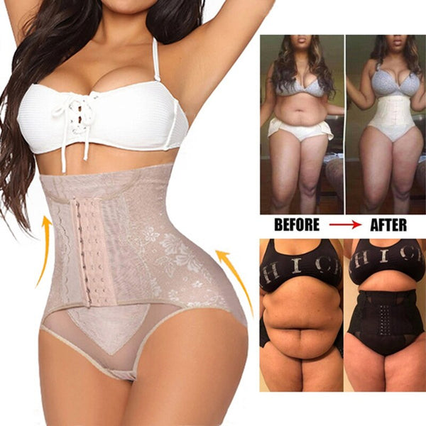 Women Plus Shapewear Waist Trainer Corset Butt Lifter Short High Waist Tummy Control Panties Slimming Body Shaper Underwear || Shop & Buy