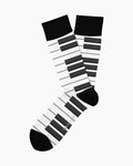 Piano Man Adult Crew Socks